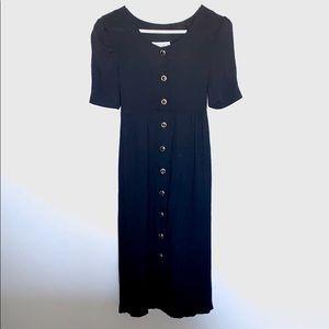 Vintage button down midi dress
